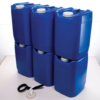 PriorityPour Tight Head - Emergency Water Storage Jug/Container - Blue, 6