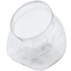 Flattened Globe Clear 33 oz